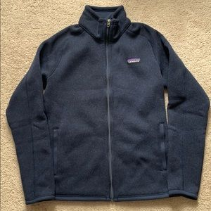 patagonia women better sweater jacket navy small